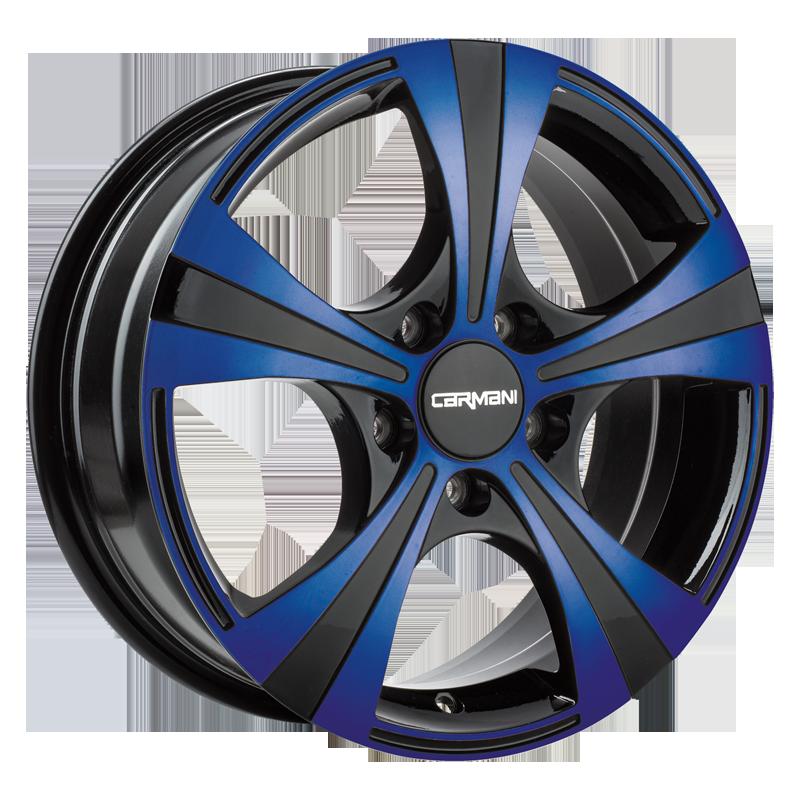 CARMANI 11 Rush hliníkové disky 6,5x16 5x105 ET39 blue polish