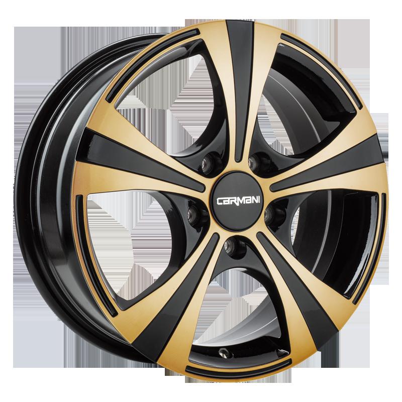 CARMANI 11 Rush hliníkové disky 6,5x16 5x105 ET39 gold polish