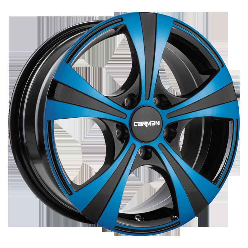 CARMANI 11 Rush hliníkové disky 6,5x16 5x114,3 ET38 light blue polish