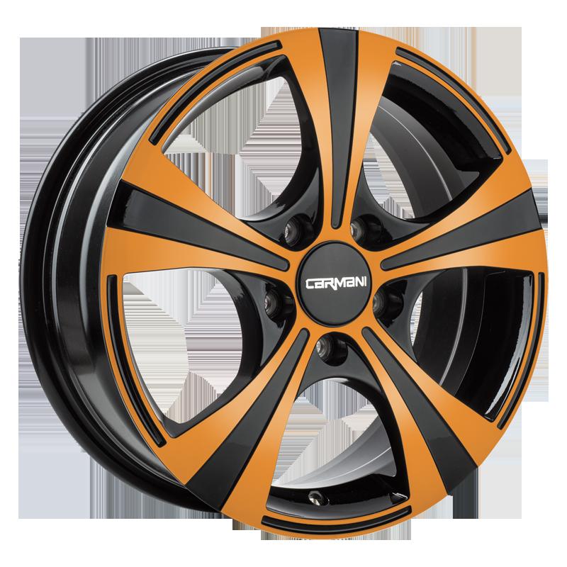 CARMANI 11 Rush hliníkové disky 6,5x16 5x114,3 ET38 orange polish