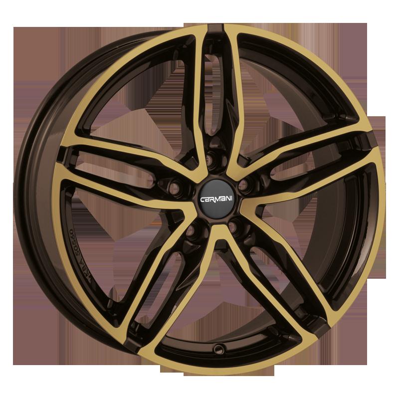 CARMANI 13 Twinmax hliníkové disky 8x18 5x114,3 ET35 brown gold polish