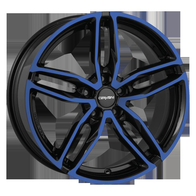 CARMANI 13 Twinmax hliníkové disky 8,5x19 5x108 ET45 blue polish
