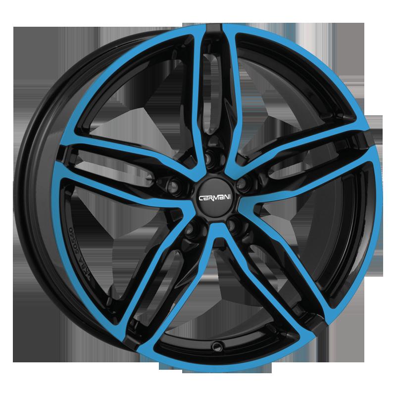 CARMANI 13 Twinmax hliníkové disky 8,5x19 5x108 ET45 light blue polish
