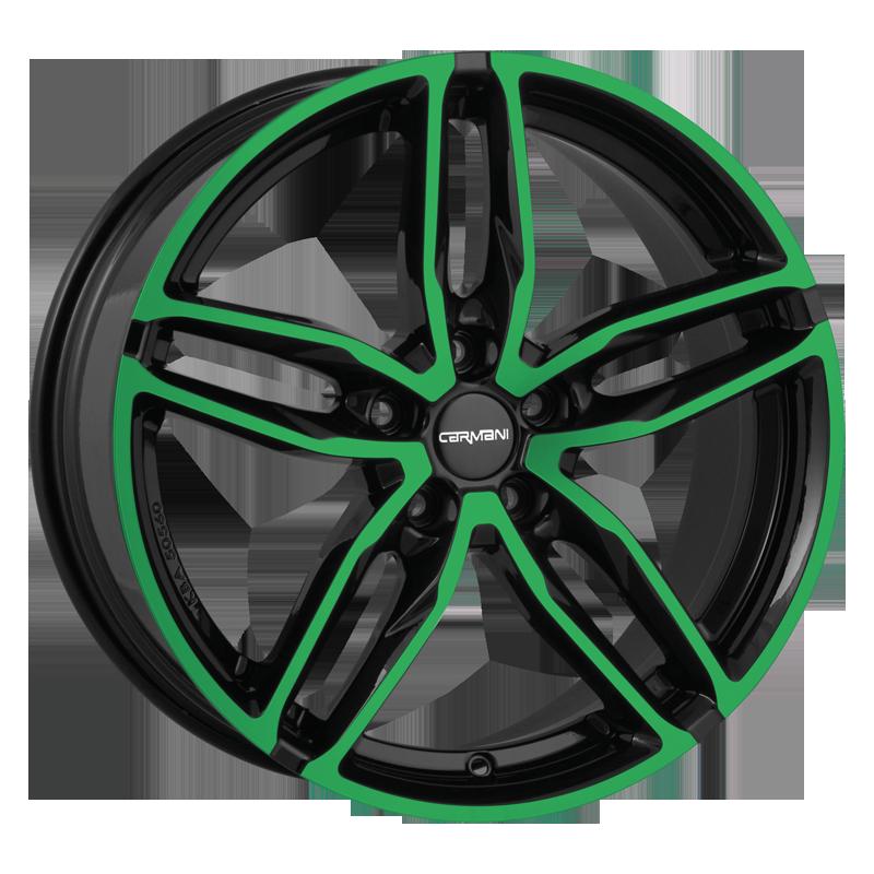 CARMANI 13 Twinmax hliníkové disky 8,5x19 5x108 ET45 neon green polish