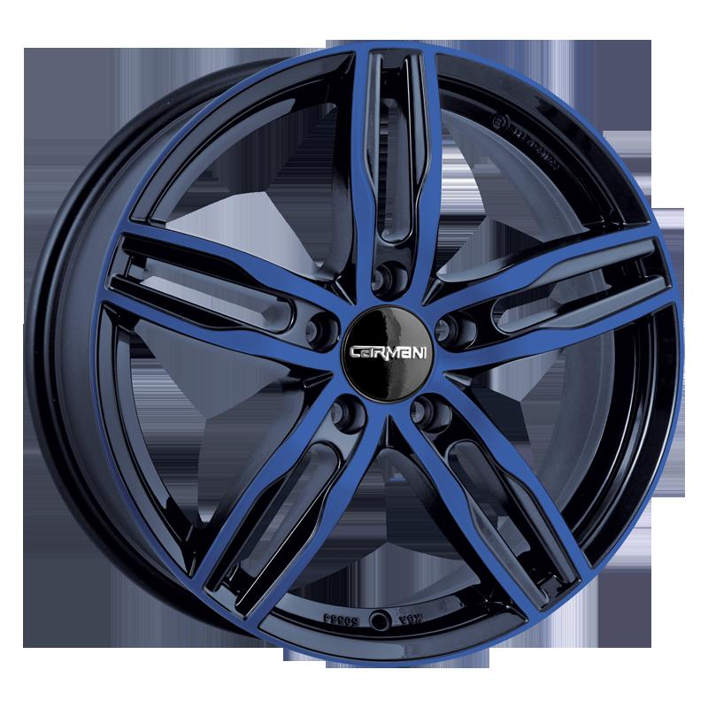 CARMANI 14 Paul hliníkové disky 6,5x16 5x100 ET38 blue polish