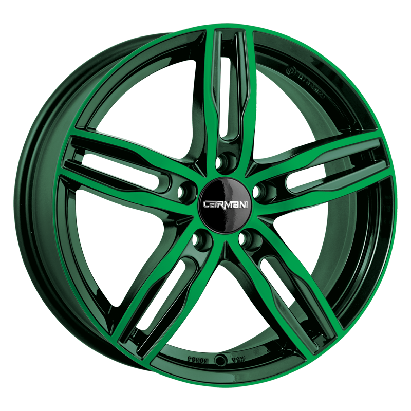 CARMANI 14 Paul hliníkové disky 7,5x17 5x115 ET42 neon green polish
