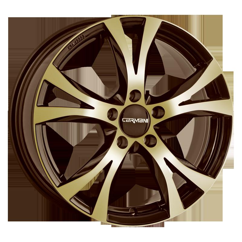 CARMANI 9 Compete hliníkové disky 8x18 5x108 ET45 brown gold polish