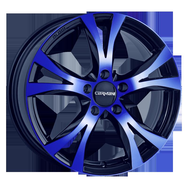 CARMANI 9 Compete hliníkové disky 8x18 5x108 ET45 blue polish