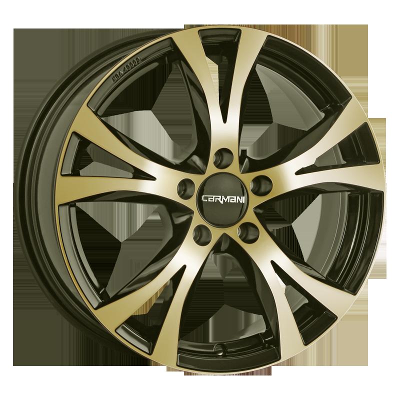 CARMANI 9 Compete hliníkové disky 7,5x17 5x108 ET45 gold polish