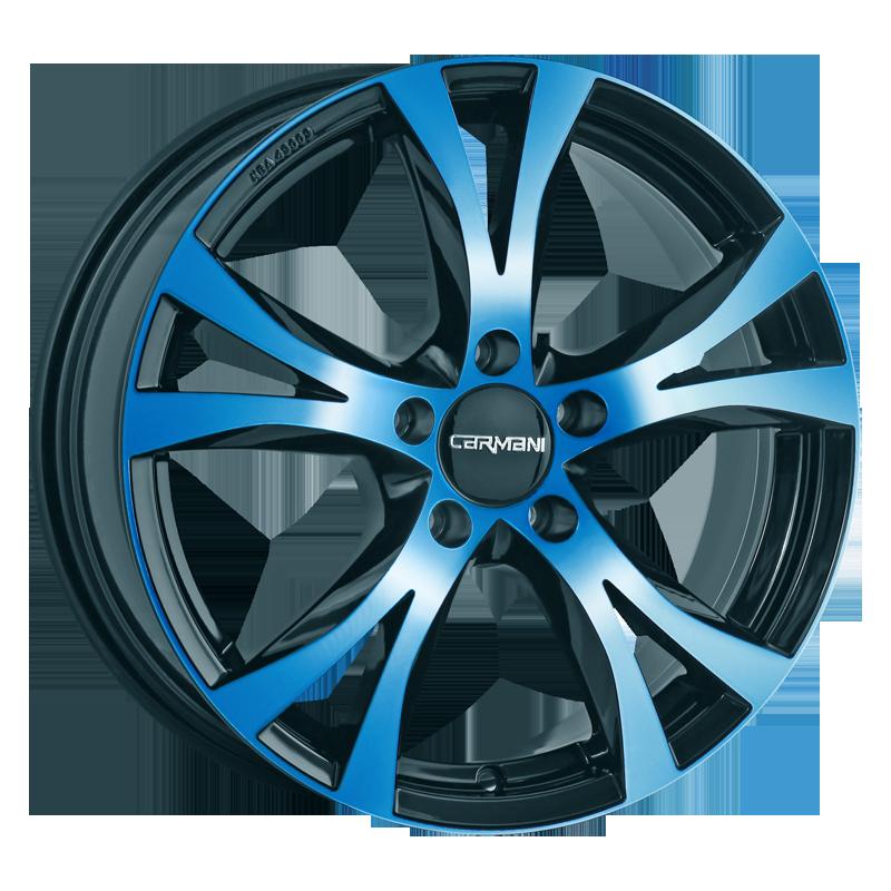 CARMANI 9 Compete hliníkové disky 7,5x17 5x114,3 ET45 light blue polish