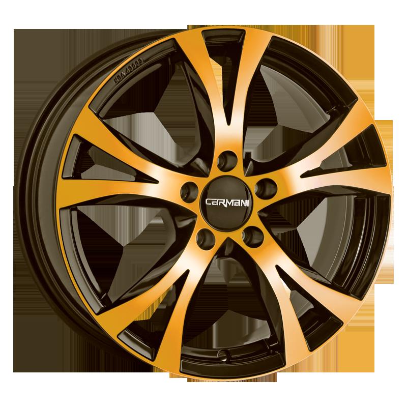 CARMANI 9 Compete hliníkové disky 8x18 5x114,3 ET45 orange polish