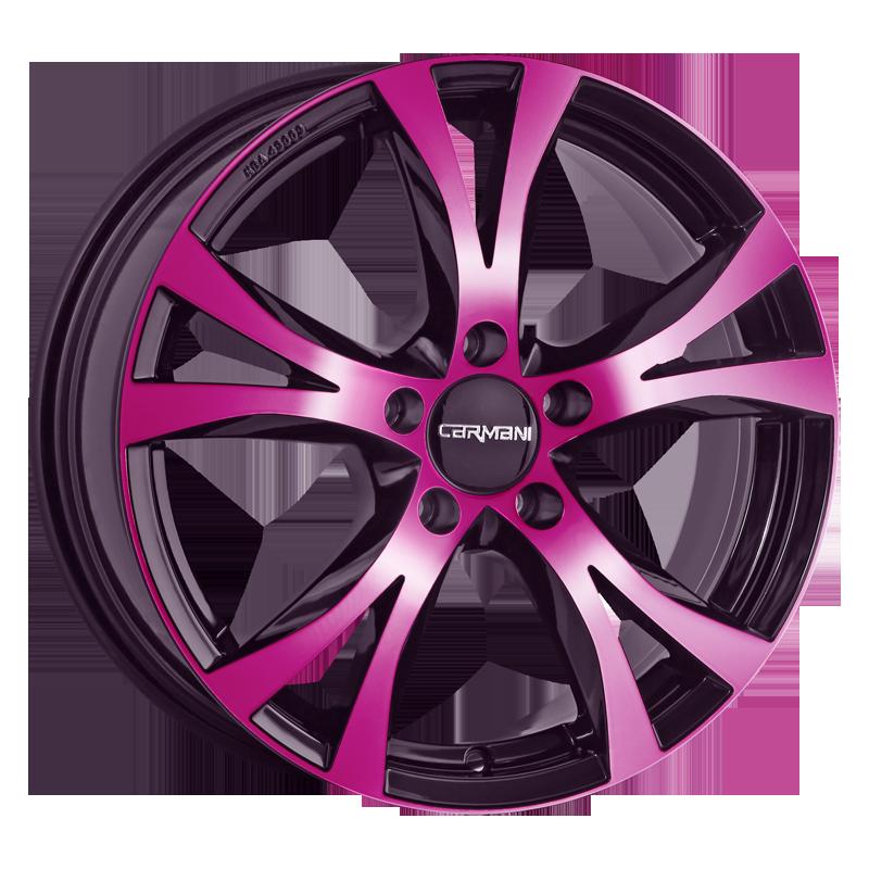 CARMANI 11 Rush hliníkové disky 6,5x16 5x112 ET50 pink polish