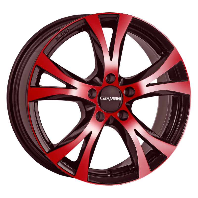 CARMANI 9 Compete hliníkové disky 7,5x17 5x120 ET35 red polish