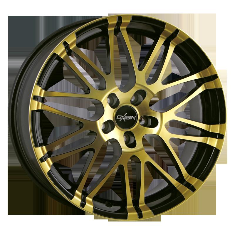 OXIGIN 14 Oxrock hliníkové disky 9,5x20 5x114,3 ET35 gold polish