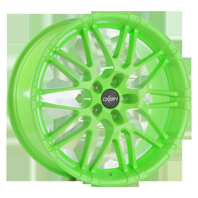 OXIGIN 14 Oxrock hliníkové disky 7,5x17 5x100 ET35 neon green