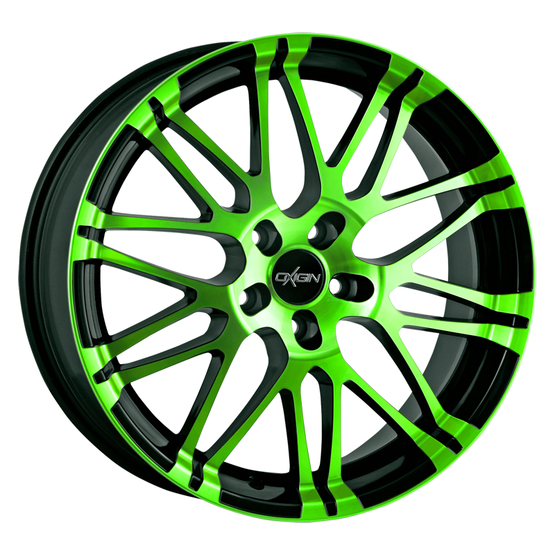 OXIGIN 14 Oxrock hliníkové disky 9,5x19 5x120 ET36 neon green polish
