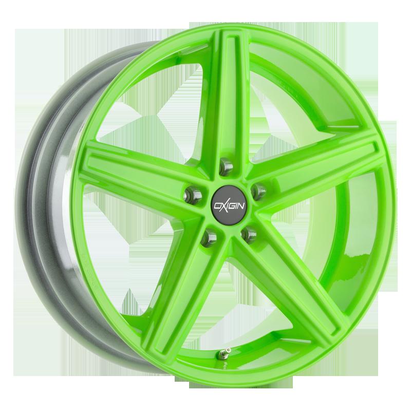 OXIGIN 18 Concave hliníkové disky 7,5x18 5x112 ET45 neon green