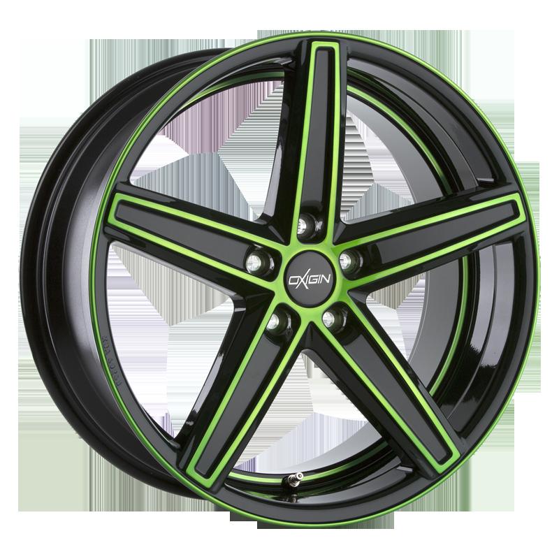 OXIGIN 18 Concave hliníkové disky 11,5x21 5x120 ET50 neon green polish