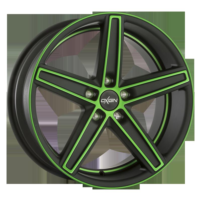OXIGIN 18 Concave hliníkové disky 7,5x18 5x112 ET37 neon green polish Matt
