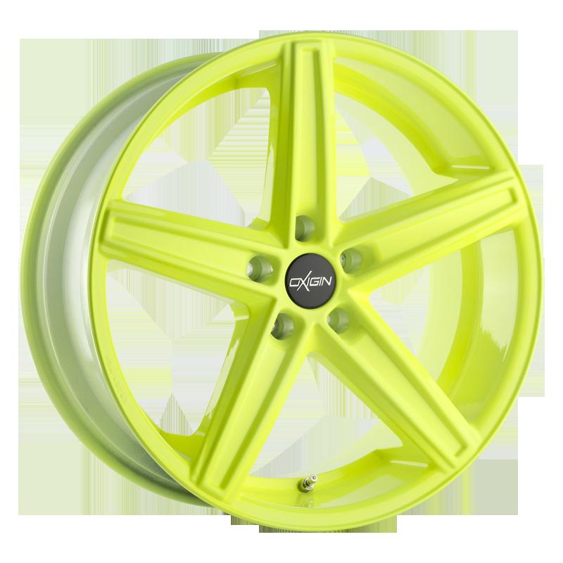 OXIGIN 18 Concave hliníkové disky 7,5x19 5x112 ET51 neon yellow