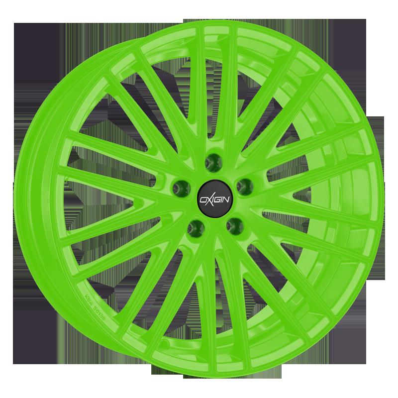OXIGIN 19 Oxspoke hliníkové disky 9x20 5x112 ET45 neon green