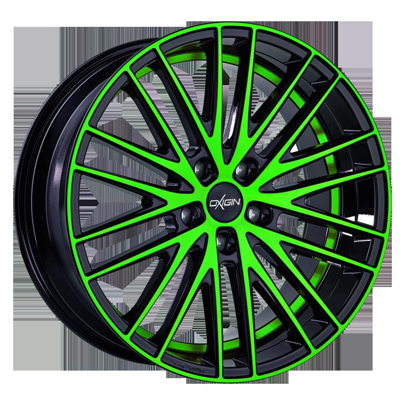 OXIGIN 19 Oxspoke hliníkové disky 8,5x18 5x108 ET45 neon green polish