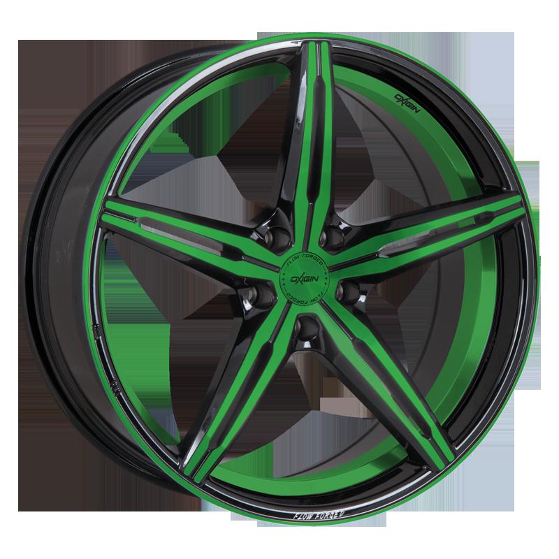 OXIGIN 23 Diamond hliníkové disky 9x20 5x112 ET28 neon green polish